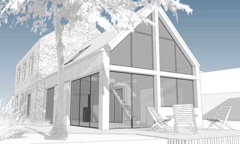 Extension bois de maison , Kernouès, U302